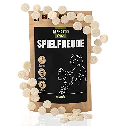 alphazoo Gelenktabletten mit Grünlippmuschelpulver Hund, natürliche Grünlippmuschel und Teufelskralle, Sehnen, Bänder und Beweglichkeit, Gelenkfunktionen unterstützen, hohe Akzeptanz
