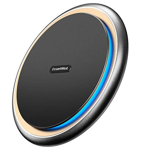 【令和モデル】DesertWest Qi 15W ワイヤレス充電器 iPhone 12 / 12 Pro / 12 Mini / 12 ProMax シリーズ 置くだけ充電 PSE認証 15W/7.5W/10W /その他Qi対応機種 日本語取り扱い説明書