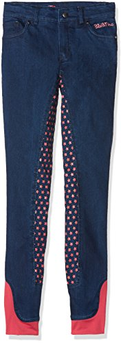 HKM Erwachsene Reitjeans-Bibi&Tina Tohuwabohu-Silikon-Vollbesatz6100 jeansblau152 Hose, 6100 Jeansblau, 152