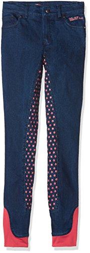 HKM Erwachsene Reitjeans-Bibi&Tina Tohuwabohu-Silikon-Vollbesatz6100 jeansblau176 Hose, 6100 Jeansblau, 176