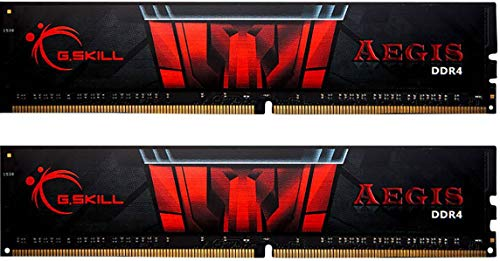 G.Skill Aegis - Módulo de Memoria, 16 GB, 2 x 8 GB, DDR4, 3000 MHz, 288-pin DIMM, Negro