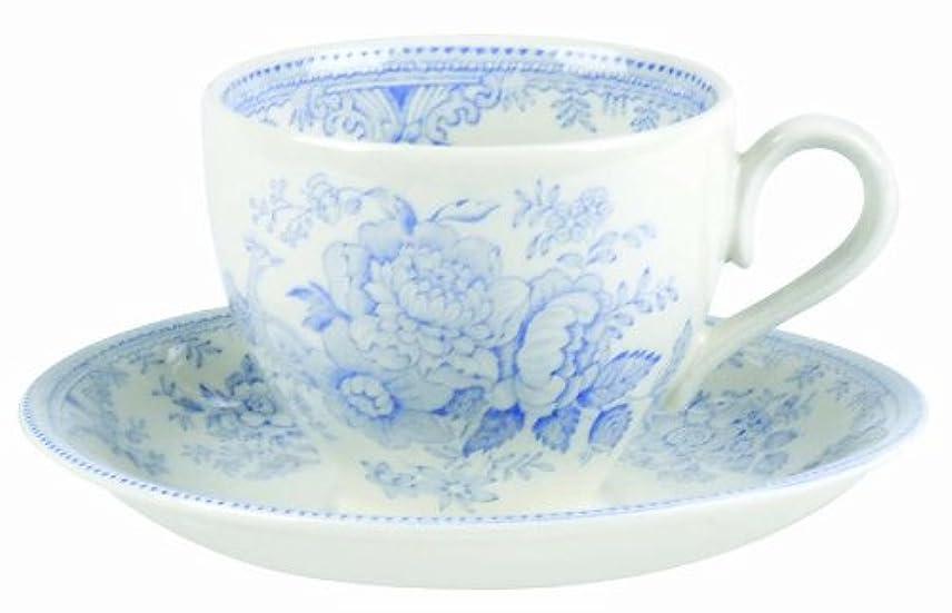 打ち負かす盆地ビバBurleigh Blue Asiatic Pheasants カップ&ソーサー E8300 2651-000025
