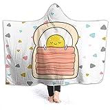 N B Bed Toast Breakfast Omelette Bacon - Manta con capucha para sofá cama, 153 cm x 127 cm