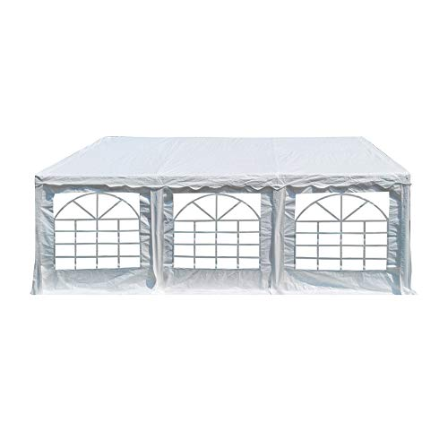 American Phoenix 20x20 Party Tent Heavy Duty Large White Roof Commercial Fair Car Shelter Wedding Events Canopy Tent - (White, 20x20)