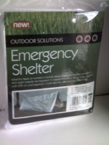 Outdoor Solutions Abri d'urgence Tente idéale pour les randonneurs en zone isolée 244 x 152 cm avec corde d'environ 610 cm Peut servir de sac