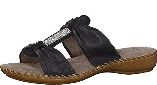 Jana Damen Pantolette schwarz Leder Weite-H Größe 36-41, Damen Größen:36;Farben:schwarz