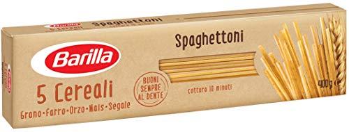 Barilla Pasta Spaghettoni 5 Cereali, Pasta Lunga di Semola di Grano Duro, Orzo, Farro, Mais e Segale - 400 gr