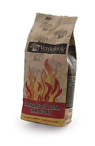 VERDELOOK Carbone Carbonella in Sacchetti per caminetti Barbecue Grill, 3 kg