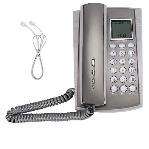 Telephones Landline | Wall Mount Desktop Corded Telephone Phone,Landline Phones for Home Office Hotel Call Center,Retro Novelty Telephone with Caller ID, Phones for Seniors, Gray
