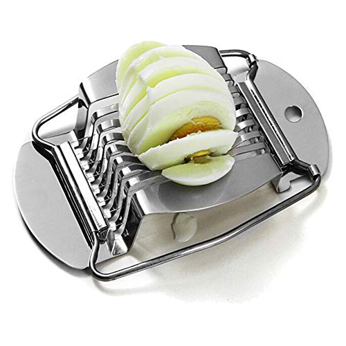 DXIA Cortador Huevos Duros, Gourmet Cortador Huevo Duro, Acero Inoxidable Pulido Cocina Herramienta de Cocina (1)