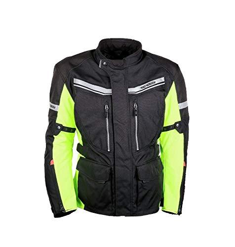 Moto Vestes Hommes Garder Au Chaud Imperméable Réfléchissant Moto Veste Femmes Respirant Vestes Collection Équipement De Protection,Fluorescent-XL