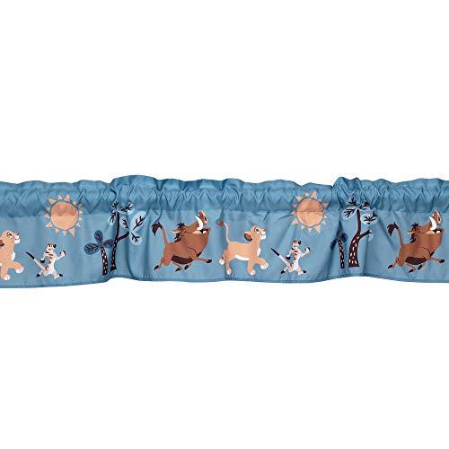 Lambs & Ivy Lion King Adventure Window Valance, Blue