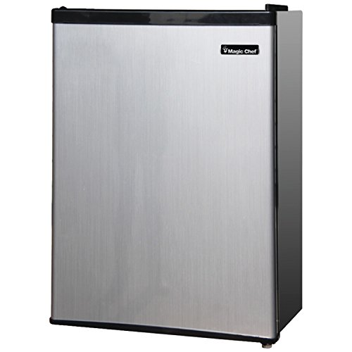 Magic Chef MCBR240S1 2.4 cu ft Compact Single Door Refrigerator, Stainless Look