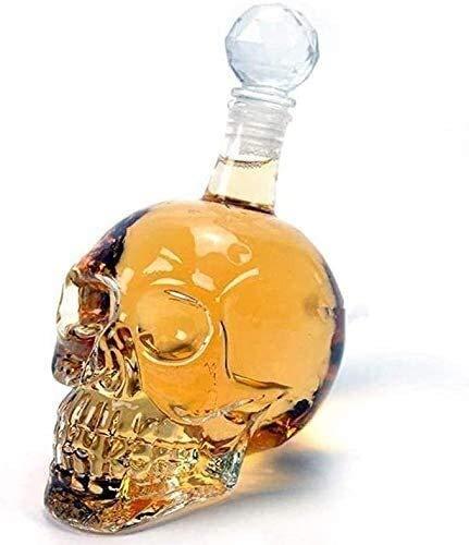 Liquor Bottle Dispenser Creative Decanter, Crystal Skull Head, Whiskey Vodka Wine Decanter Bottle, Whisky Glass, Beer Spirits Water Glass Whiskey Gift Set