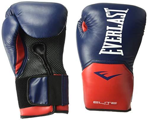Everlast Elite Pro Style Training Gloves, Blue/Red, 16 oz