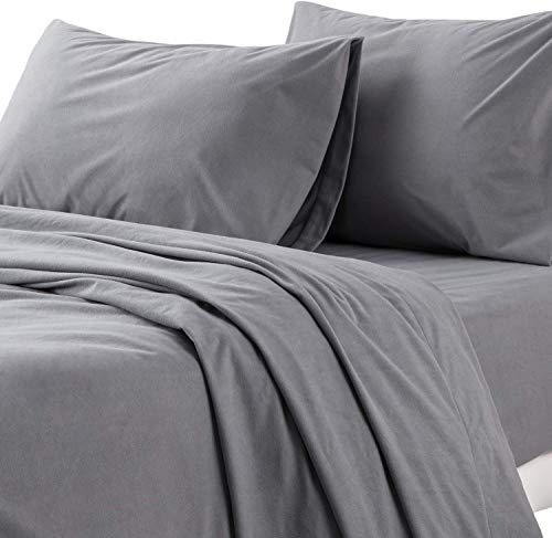 Bedsure Flannel Sheets King Warm Soft for Winter 4 Piece King Flannel Sheet Set