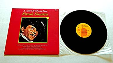 A JOLLY CHRISTMAS FROM FRANK SINATRA - Capitol Records 1957 - USED Vinyl LP Record - 1985 MONO Reissue - The Christmas Waltz - Adeste Fideles - O Little Town Of Bethlehem