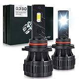 OPL5 Lampadine per fari LED 9005/HB3, 16000LM 70W 6500K Xenon bianco Estremamente luminoso, Plug and Play Waterproof 9005 Kit di conversione lampadine per fari LED con ventola da 12000 RPM (2PCS)