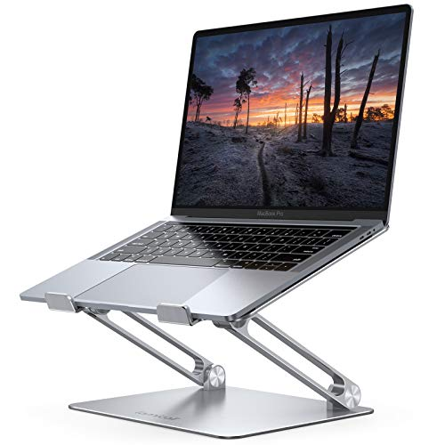 Lamicall Laptop Stand Riser Portable - Foldable Height Adjustable Ergonomic Computer Notebook Stand Holder Lift for Desk, Compatible with MacBook Air Pro, Dell XPS, HP (10-17'') - Silver