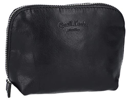 Gusti Leder Studio'Leo' Leather Cosmetic Case Make-Up Beauty Bag Waterproof Lining Vintage...