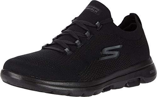 Skechers Women's GO Walk 5-UPRISE Sneaker, Black, 11 Medium US