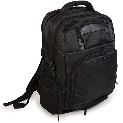 Jambag Powerbag Backpack by Que: Bluetooth Speakers, Charging Station, Protected Laptop Sleeve. Hidden Valuables Pocket. Perfect for Travel (Black)
