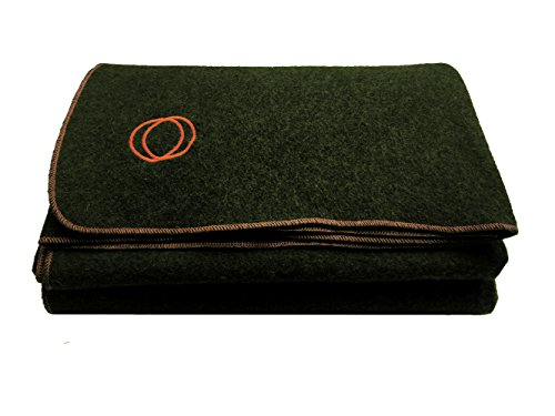 Orion Blanket Co. 'Vestige Military Wool Blanket, 4.5 lbs, 66' x 84' (Green/Orange)