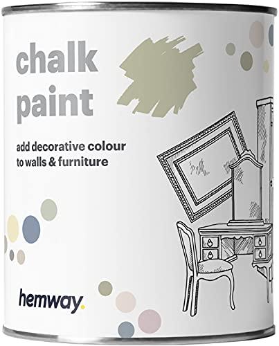 Hemway - Kreidefarbe für Möbel & Wände - matt - renoviert - 1 Liter - Olive