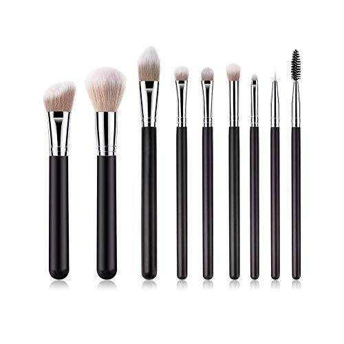 GONGFF 9pcs pinceaux de Maquillage mis en mélange et de Polissage et de contournage et de Poudre et de Cache-cernes et de Pinceau pour Les Yeux et Les lèvres