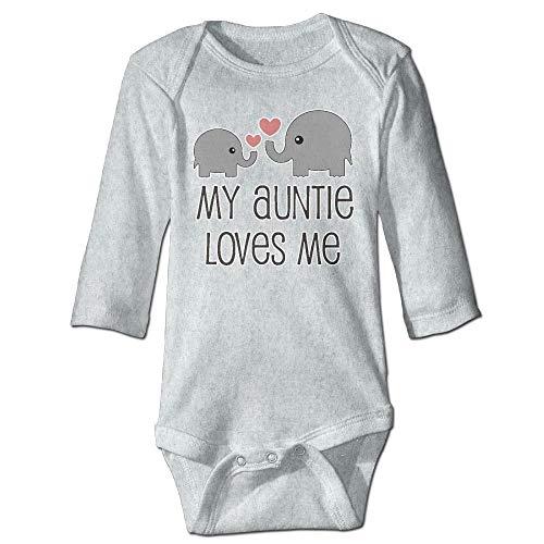 SDGSS Babybekleidung Bodysuits CKS My Aunt Loves Me Unisex Baby 100% Cotton Long Sleeve Romper Clothes Outfits Ash