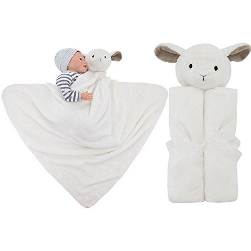 Vine Toalla infantil con capucha de algodón Bebé Recién Nacido con Capucha Baño Mantas Toalla 76 * 76CM(Las ovejas blancas)
