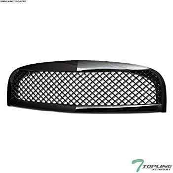 Topline Autopart Black Mesh Front Hood Bumper Grill Grille ABS For 06-11 Chevy HHR