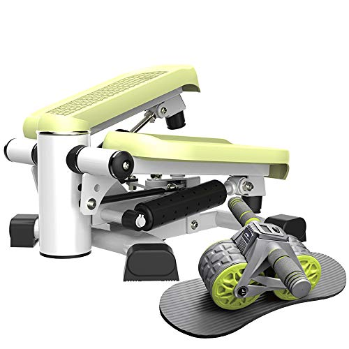 leikefitness Twist Stair Stepper 6600(Green) and Ab Carver Wheel Roller with Intelligent Display 1301 Bundle