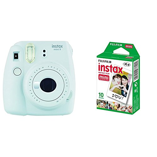 Fujifilm Instax Mini 9, Blanco + 1 paquetes de películas fotográficas instantáneas (10 hojas)