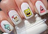 Spongebob Water Nail Art Transfers Stickers Decals - Set of 50