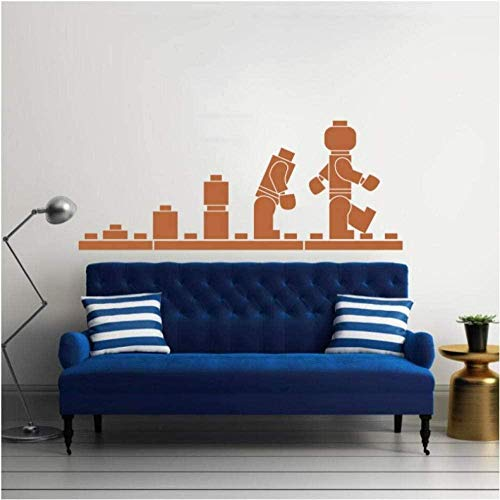 Wall Sticker 3D Removable Vinyl Decal Quote DIY Art Mural Wall Paper Home Wall Decoration Lego Bricks 42X120 cm