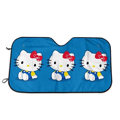 Parasol para parabrisas de coche, diseño de Hello Kitty