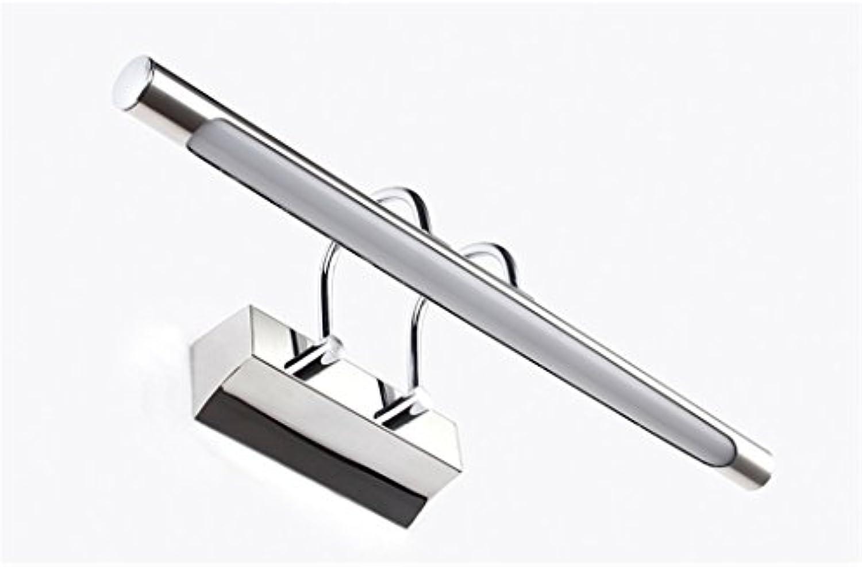 Wasserdichte Anti-Fog LED Spiegel Frontleuchte Edelstahl Einfache Spiegel Lichter Europische Wandleuchte Bad WC Kommode Spiegelschrank gewidmet Energiesparlampen (weies Licht) (gre   69cm 18W)