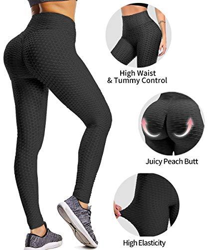 YAMOM High Waist Anti Cellulite Workout Leggings
