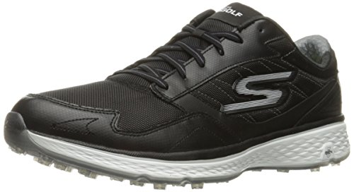 Skechers Golf Men's Go Golf Fairway Golf Shoe, Black/White, 7.5 M US