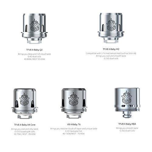 DIY-24H - Smok 3er Pack Verdampferköpfe für TFV8 X-BABY Beast Q2 M2 T6 X4 RBA Coils Head Verdampfer Atomizer (X4 - 0,13 Ω)