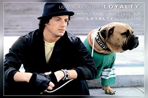 PosterHub Póster de Rocky Balboa/Sylvester Stallone con acabado mate en papel (multicolor) HS-4588