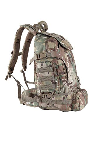 OLEADER Militär taktischer Rucksack 40L wasserdichter Rucksack Große Molle Assault-Rucksäcke mit Taillentasche für Outdoor-Trekking, Reisen, Wandern, Camping (Camo)