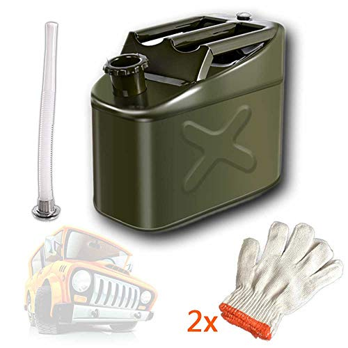Jerry kan worden toegepast op Gas Benzine Benzine Diesel Oil Liquid watertank met hevelslang met slang en filter tuit,5L