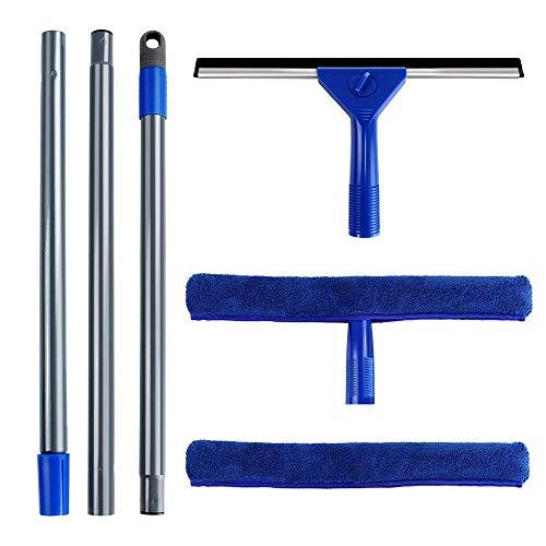 MASTERTOP Fensterwischer Handgerät Glasreiniger Fenster-2-in-1Abzieher Fensterreiniger mit Abziehlippe für dusche, badwischer, Handgerät Glasreiniger