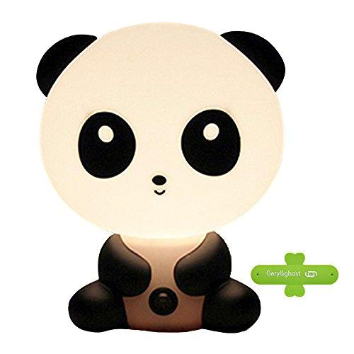 GARY&GHOST Veilleuse de Nuit Lampe Bureau Table Chevet Portable Forme Animal Panda Lumière Ambiance Night Light Éclairage Déco pour Chambre Enfants Bébés Coucher Maison Salon