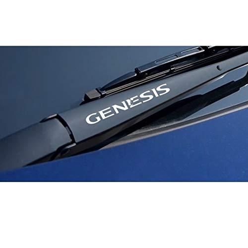 SLONGK 4PCS Auto Fensterwischer Aufkleber, für Hyundai Elantra Akzent Tucson i40 i30 i10 i20 Veloster IX35 IX20 Solaris Genesis Santafe GDI