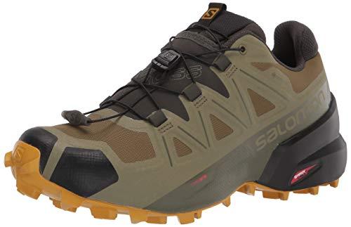 Salomon SPEEDCROSS 5 GTX, Scarpe da Trail Running Uomo, Verde (Olive Night/Black/Ebony), 40 EU