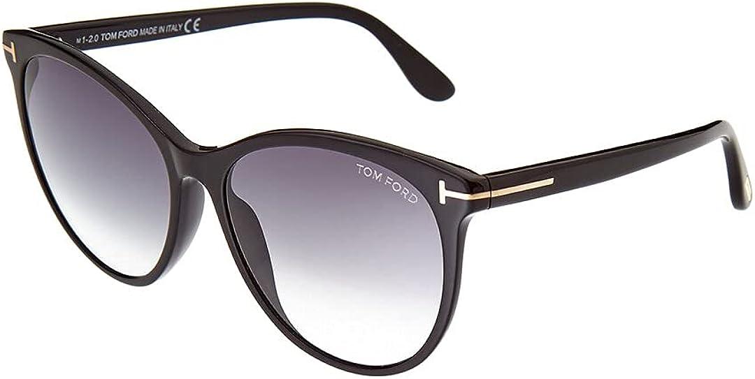 Tom Ford FT0787 01B Shiny Black Maxim Round Sunglasses Lens Category 2 Size 59m