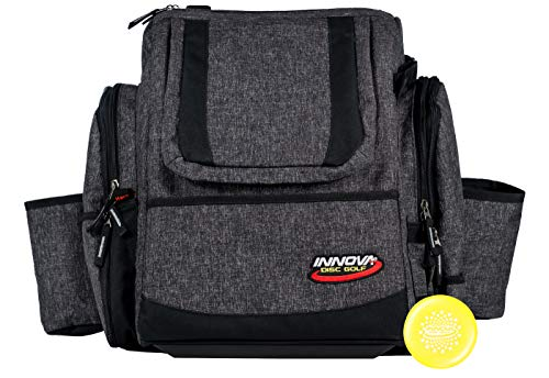 Innova Super HeroPack II Disc Golf Backpack – Holds 25+ Discs, Redesigned for Comfort - with Limited Edition Innova Stars Stamped Mini